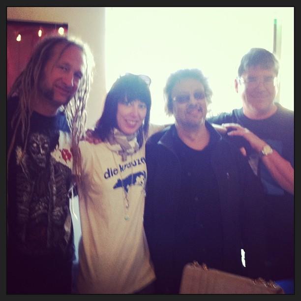 Dan Kubinski, Janet Brammer, Keith Brammer and Jay TIller at Rushmor Records in Milwaukee for Record Store Day 2014